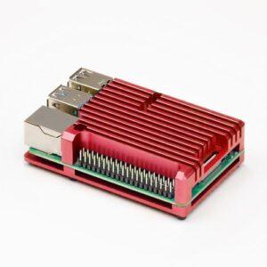 Raspberry Pi 4 Heatsink case rood