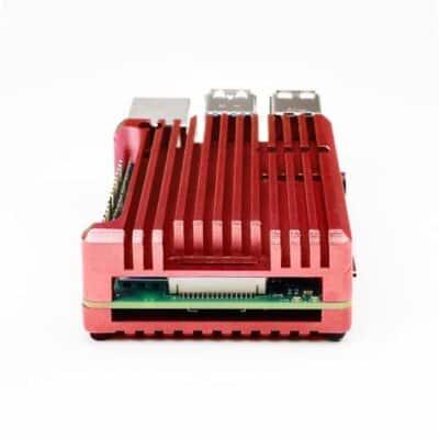 zurück Raspberry Pi 4 Kühlkörpergehäuse rot