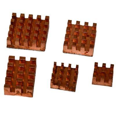 Heatsink set koper 5 stuks
