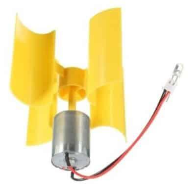 Verticale windgenerator set