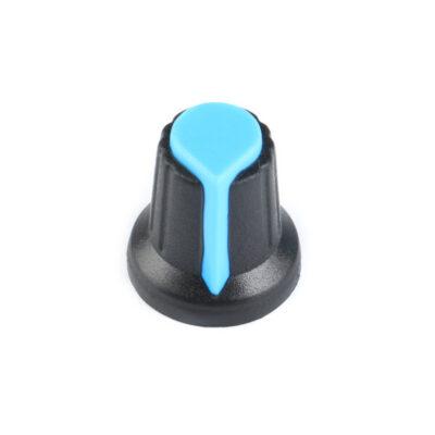 Bouton de potentiomètre bleu