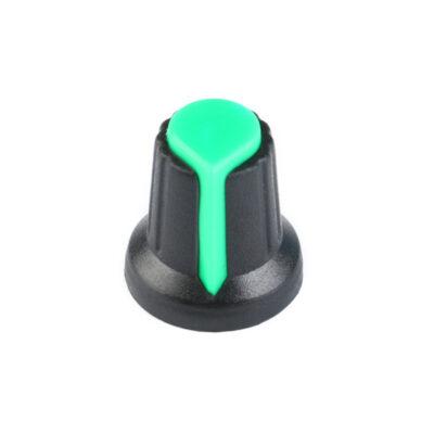 Bouton de potentiomètre vert