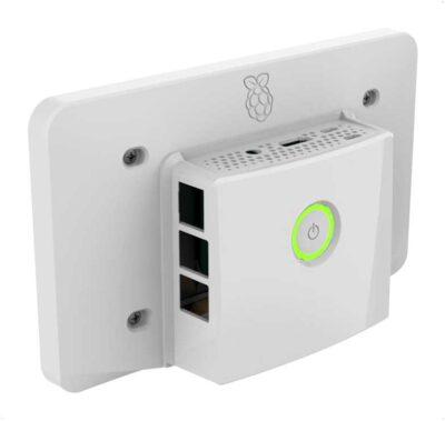 Raspberry Pi 4 Touchscreen-Gehäuse Multicomp + Power-Taste Schwarz