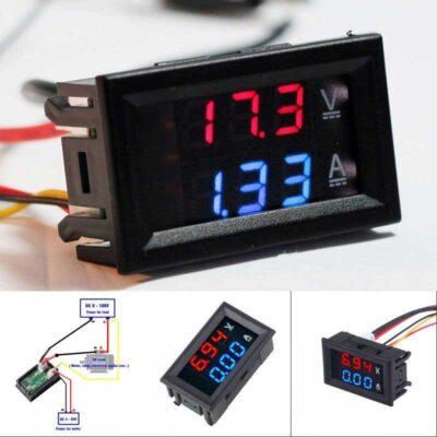 Strom- und Spannungsmesser mit Segmentanzeige