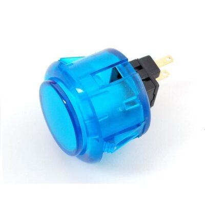 doorzichtig blauwe arcade knop 30mm