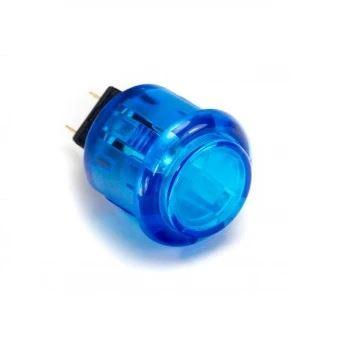 30mm knop doorzichtig blauw