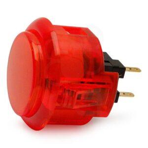 30mm knop doorzichtig rood