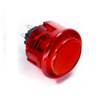 doorzichtig rode arcade knop 30mm