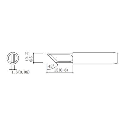 MP001718 soldering tip schematic