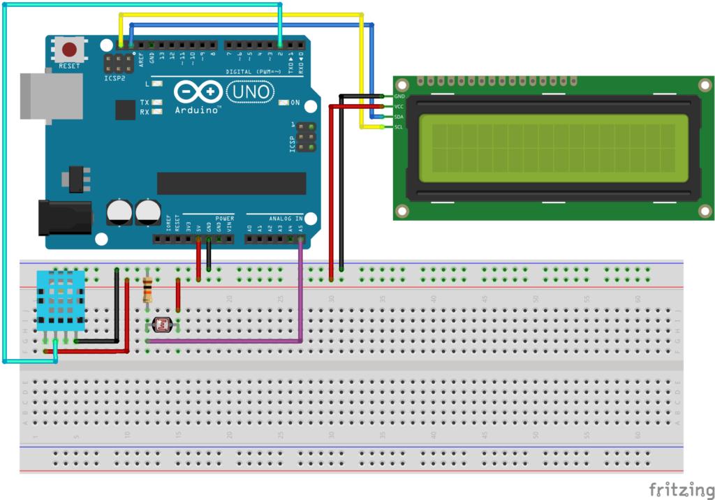 Arduino weerstation - DHT11 - LDR