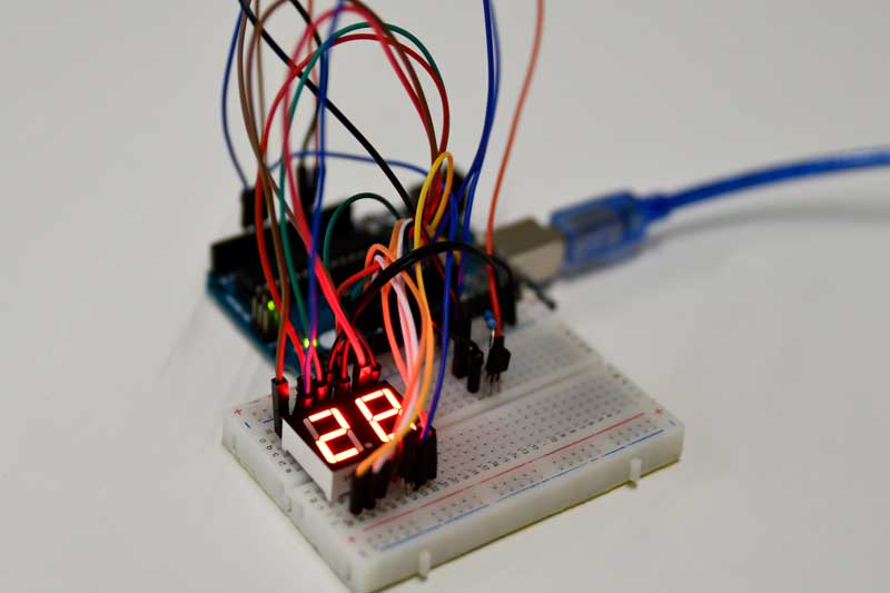 Arduino Thermometer project met DS18B20 sensor en 7 segment display
