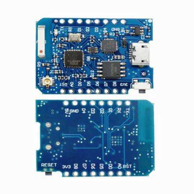 Wemos D1 Mini Pro avant et arrière